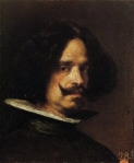 Diego Velázquez (1599–1660) 'Self-portrait' c. 1640 Medium oil on canvas 45 × 38 cm (17.7 × 15 in) Real Academia de Bellas Artes de San Carlos de Valencia