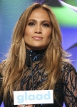 Jennifer Lopez at the 25th GLAAD Media Awards, April 2014