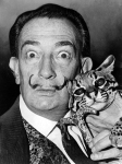 Roger Higgins, World Telegram staff photographer. 'Salvador Dali with ocelot and cane' 1965 Library of Congress. New York World-Telegram & Sun Collection