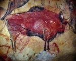 Bison in the great hall of polychromes, Cave of Altamira