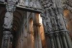 Portico da Groria, old façade of the Romanesque cathedral, 12th century, Catedral Santiago de Compostela