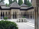 The Court of the Lions, a example of Islamic Moorish architecture and garden design, Alhambra