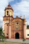 Facade of the mission church of San Miguel Concá, Franciscan Missions in the Sierra Gorda