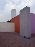 Patio on the roof of the Luis Barragan House and Studio