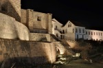 Night view of the Qurikancha and Convent of St. Dominic, City of Cuzco