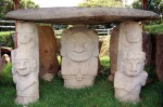 Tomb with deity. Archaeological park in San Agustín features sculptures dating from 1st to 8th centuries AD.