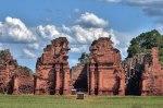 Ruins of the Jesuit reduction San Ignacio Mini, Church gate, Misiones Province, Argentina, South America
